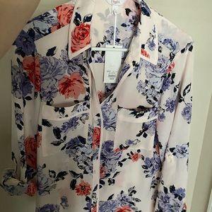 NWT Candie's Junior Floral Shirt